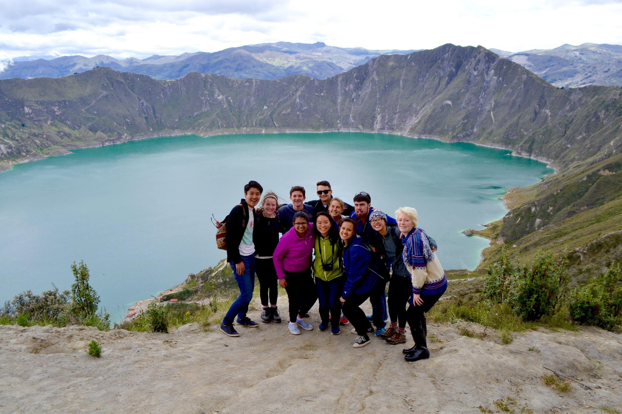 Hiking at Lake Quilotoa!