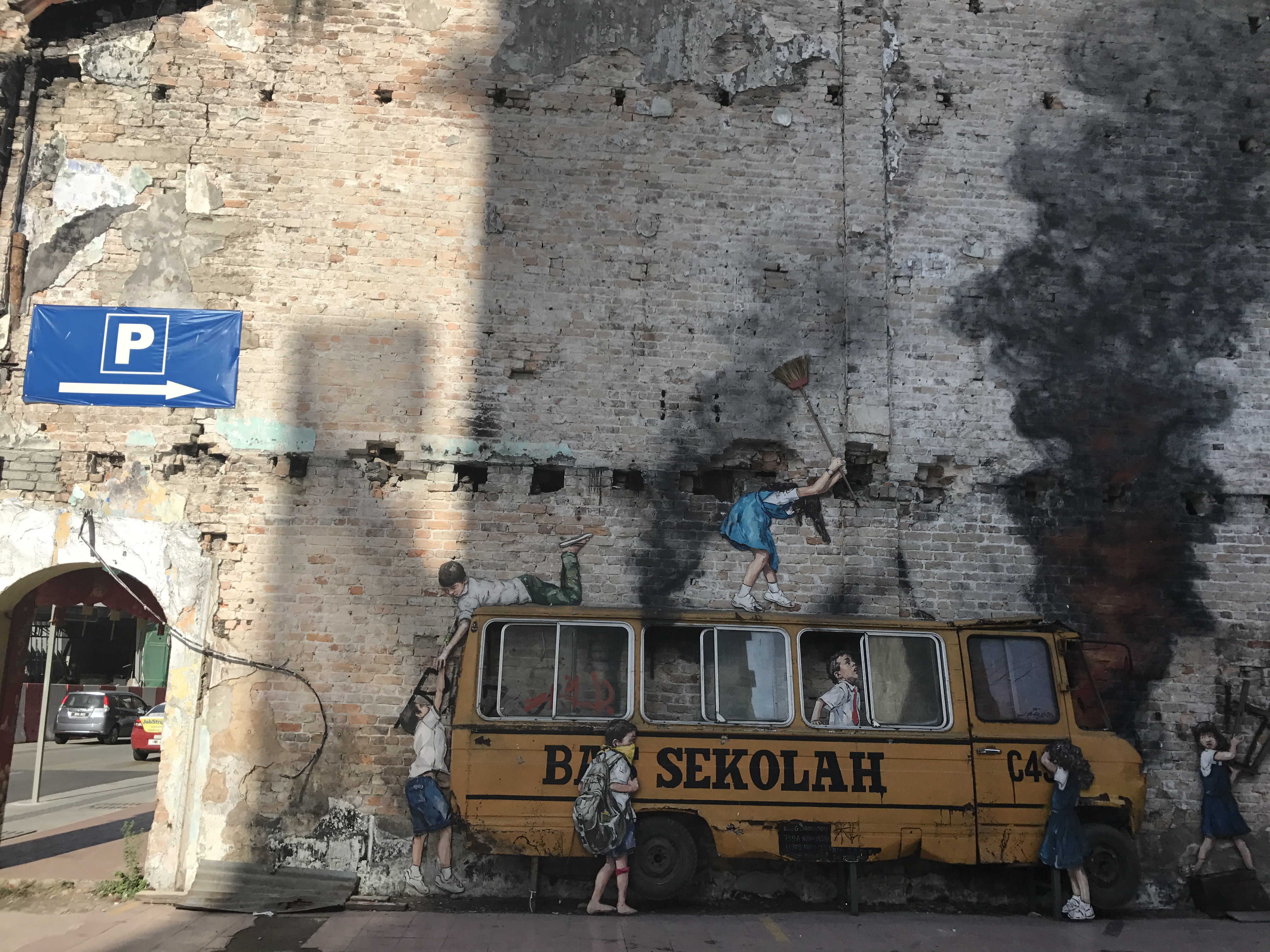 School Bus Street Art